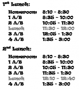 7-9th Grade Regular Schedule