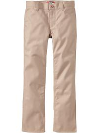 Boys Skinny Uniform Khakis - Rolled Oats